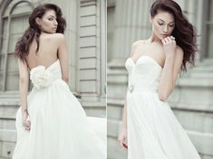 <3: Natural White Annie Wedding Gown Silk Hand Gathered by reddoll, $995.00 -- I'm so torn...