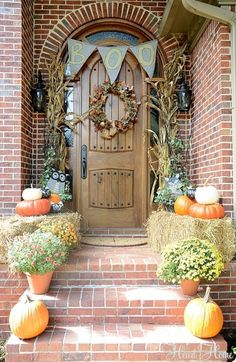 Ourdoor Halloween Decorations #fall #falldecor