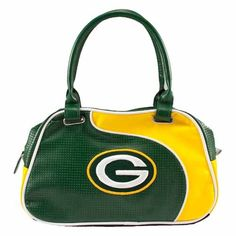 Little Earth Green Bay Packers Perf-ect Bowler Satchel Packers Gear, Greenbay Packers, Packers Football, Packers Memes, Packers Baby, Football Team, Nfl Green Bay, Green Bay Packers Fans, Gucci Handbags