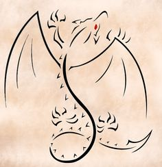 Tribal Climbing Dragon by ddavis1979.deviantart.com on @deviantART