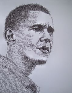 Micrography (Word Portraits) - Portraits made using the words the subject has spoken or written.