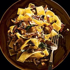 Pappardelle with Mushrooms | CookingLight.com