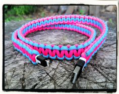Pink Blue Paracord Wrapped iPhone 5 Charger on Etsy, $20.00