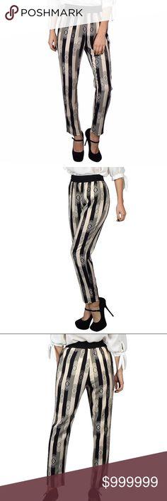 Geometric Stripe Printed Pants Geometric Stripe Printed Pants SUPER CUTE SOFT STYLISH  Comfy, ELASTIC WAIST 100% Polyester Black/White NWOT SEE PICTURE FOR SIZING  ❤️BUNDLE & SAVE 15%❤️ Pants