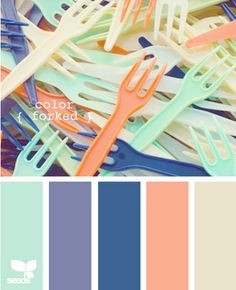 coral & blues - love the colour scheme