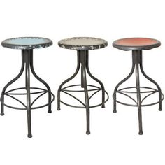 metal rustic coloured bar stools - Google Search