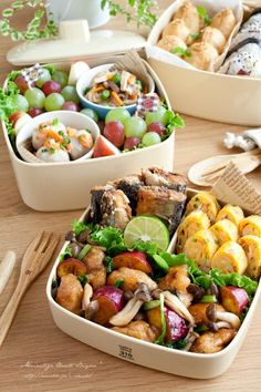 お弁当 So delicious looking~ Bento Recipes, Cooking Recipes, Healthy Recipes, Picnic Recipes, Cute Food, Good Food, Yummy Food, Tasty, Plat Vegan
