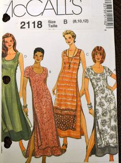 Sewing Pattern McCall's 2118 Misses' Dresses in size 8-12, bust 31-34 inches UNCUT Complete by GoofingOffSewing on Etsy