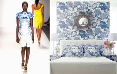 Lela Rose Spring 2013 RTW and Decorpad    Blue and cream is always fresh and serene. A true classic!
