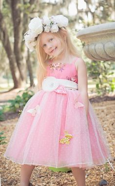 Pretty In Pink Butterfly Gown<BR>Now in Stock