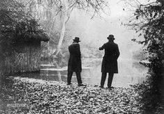 Photograph showing the 'Silent Pool' at Newlands Corner, Surrey, during 1926. The Police dragged the pool, that year, in their search for Agatha Christie, the novelist and playwright, who disappeared on 3rd December in Surrey and reappeared on 14th in Harrogate