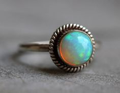 #birthstone #ring, beautiful and mesmerizing finest Ethiopian opal ring