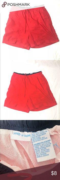 Sand and Sun Swim Trunks Size Medium Men's Sand and Sun Shorts Swim Trunks Red Casual Summer Men's Size Medium       Red Swim Trunks, Swim Swim, Casual Summer, Swim Shorts, Fashion Design, Fashion Tips, Fashion Trends, Color Red, Casual Shorts