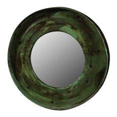 Reclaimed Metal Drum Lid Mirror - Green – BRIARWOOD