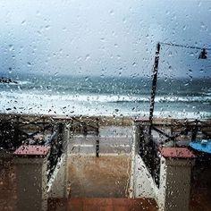 Lluvia sobre mar / Rain in the sea.