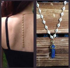 www.taniamariajewelry.etsy.com Backdrop necklace! Free shipping to U.S.A and Canada #boho #bohochic #gypsy #jewelry #handmade #fashion #fashionjewelry