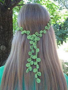 Leafy Vine - free crochet pattern by Erica Bennett.                                                                                                                                                                                 More