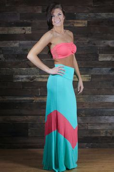 The Big Time Chevron Maxi Skirt | UOIONLINE.COM