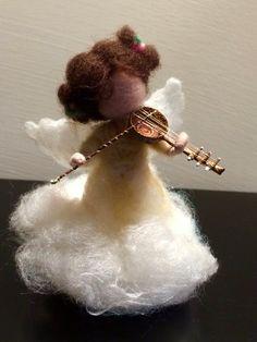 Needle felted Angel Waldorf inspired Christmas Angel