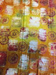 Hand Stamped Batik Fabric Hand Stamped, Accent Decor, Craft Projects, Quilts, Big, Fabric, Handmade, Crafts, Tejido