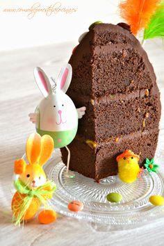 Mona de pascua de chocolate y mermelada de naranja / Easter cake