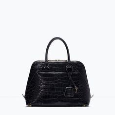 ZARA - MULHER - Citybag Coco. crocodile black citybag/shoulder bag.