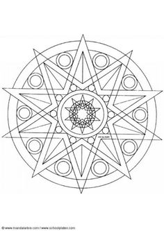 Mandala Printable Colouring pages-meditation with crayons. Enjoyed this on vacation
