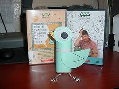 """Toilet paper roll pigeon it looks just like the book from """"Don't Let the Pigeon Drive the Bus!"""" OK, time to start saving the toilet paper rolls!"""
