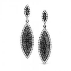 $2,738.00- KC Designs Black and White Diamond Drop Earrings are a real head turner