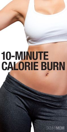 Burn 100 calories in 10 minutes with this workout! Fitness Tips, Fitness Motivation, Health Fitness, Fitness Quotes, Fitness Models, Burn 100 Calories, Skinny Mom, Get Healthy, Healthy Mind