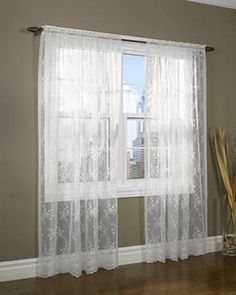 Ricardo Trading Ultimate Blackout Grommet Top Panel Lace Valances, Lace Curtain Panels, Tab Top Curtains, Lace Curtains, Camper Curtains, Blackout Curtains, Kitchen Window Curtains, Window Sheers, Living Room Decor Inspiration