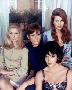 Catherine Deneuve, Genevieve Page, Francoise Fabian, and Maria Latour in Belle de Jour 1967
