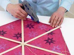 Hexagon Drachen zusammenbauen