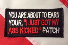 Funny work shirt patches asshole dick