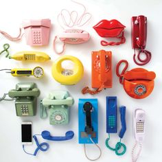 Definitivamente odiaría menos hablar por teléfono si pudiera hacer todas mis llamadas con el de color verde menta.