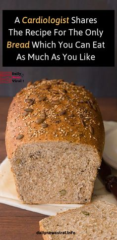 A Cardiologist Shares The Recipe For The Only Bread Which You Can Eat As Much As… – food_brot / bread / pain / pane - keto diet Gluten Free Recipes, Low Carb Recipes, Cooking Recipes, Healthy Recipes, Healthy Breads, Recipe For Healthy Bread, Gluten Free Bread Recipe Easy, Carb Free Bread, Healthy Homemade Bread