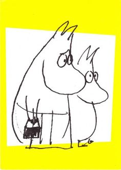 Moominmamma and Moomintroll