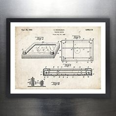 Amazon.com: ETCH A SKETCH DRAWING TOY 1962 PATENT ART 18x24 PRINT POSTER GIFT ETCH-A-SKETCH PARCHMENT OHIO: Posters & Prints
