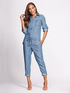 9db880ec Worth A Tri Romper in 2019 | wardrobe ideas | Denim jumper, Jeans ...