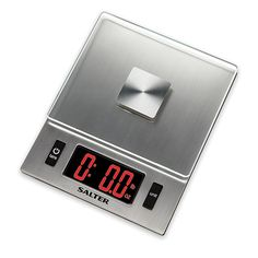 Weigh out all your ingredients and get precise readings with the Salter LED Display Digital Kitchen Food Scale. Ideal for weighing everything from veggies to meat, this innovative food scale features a stainless steel surface for a sleek appearance. Electronic Kitchen Scales, Food Scale, Digital Scale, Plastic Glass, Cooking Ingredients, Digital Alarm Clock, Kitchen Gadgets, Cleaning Wipes