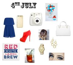 """4th of July"" by outfitdesignss on Polyvore featuring Giuseppe Zanotti, Michael Kors and Janna Conner Designs"