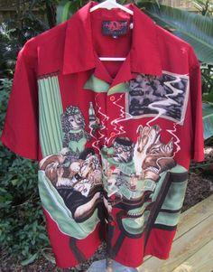 Polyester Regular Size S Hawaiian Casual Shirts for Men Dogs Playing Poker, Mens Hawaiian Shirts, Aloha Shirt, Vintage Shirts, Casual Shirts For Men, The Ordinary, Shirt Dress, Clothing, Sweaters
