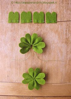How to make a lucky clover from felt. Hoe maak je een klavertje vier?