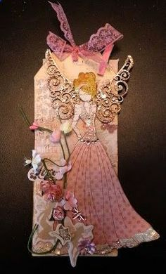 Prima Doll Stamp tag ~ her wings are beautiful! Prima Paper Dolls, Prima Doll Stamps, Card Tags, Gift Tags, Handmade Tags, Paper Tags, Artist Trading Cards, Copics, Tag Art