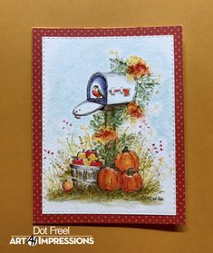 Watercolor Design, Watercolor Cards, Halloween Cards, Fall Halloween, Art Impressions Stamps, Facebook Art, Thanksgiving Cards, Watercolour Tutorials, Fall Cards