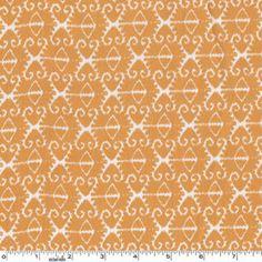Orange ikat  Michael Miller Fabrics 1 yd total by poppyseedfabrics, $9.00