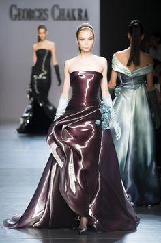 Georges Chakra Haute Couture Fall 2014 Looks like liquid silk!