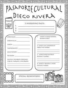 Pasaporte Cultural - Diego Rivera by LA SECUNDARIA  | Teachers Pay Teachers