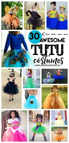 over 30 awesome tutu costumes and dress up outfits Tulle Halloween Costumes, Halloween Tutu Costumes, Minion Costumes, Dress Up Costumes, Girl Costumes, Diy Halloween, Costume Ideas, Princess Tutu Costumes, Alice Halloween