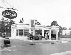 Full service Amoco gas station-1949